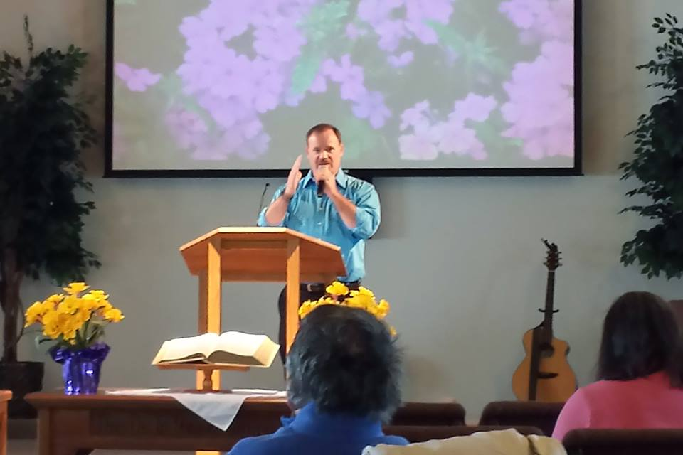 Bill Young bringing the message at Dekalb First